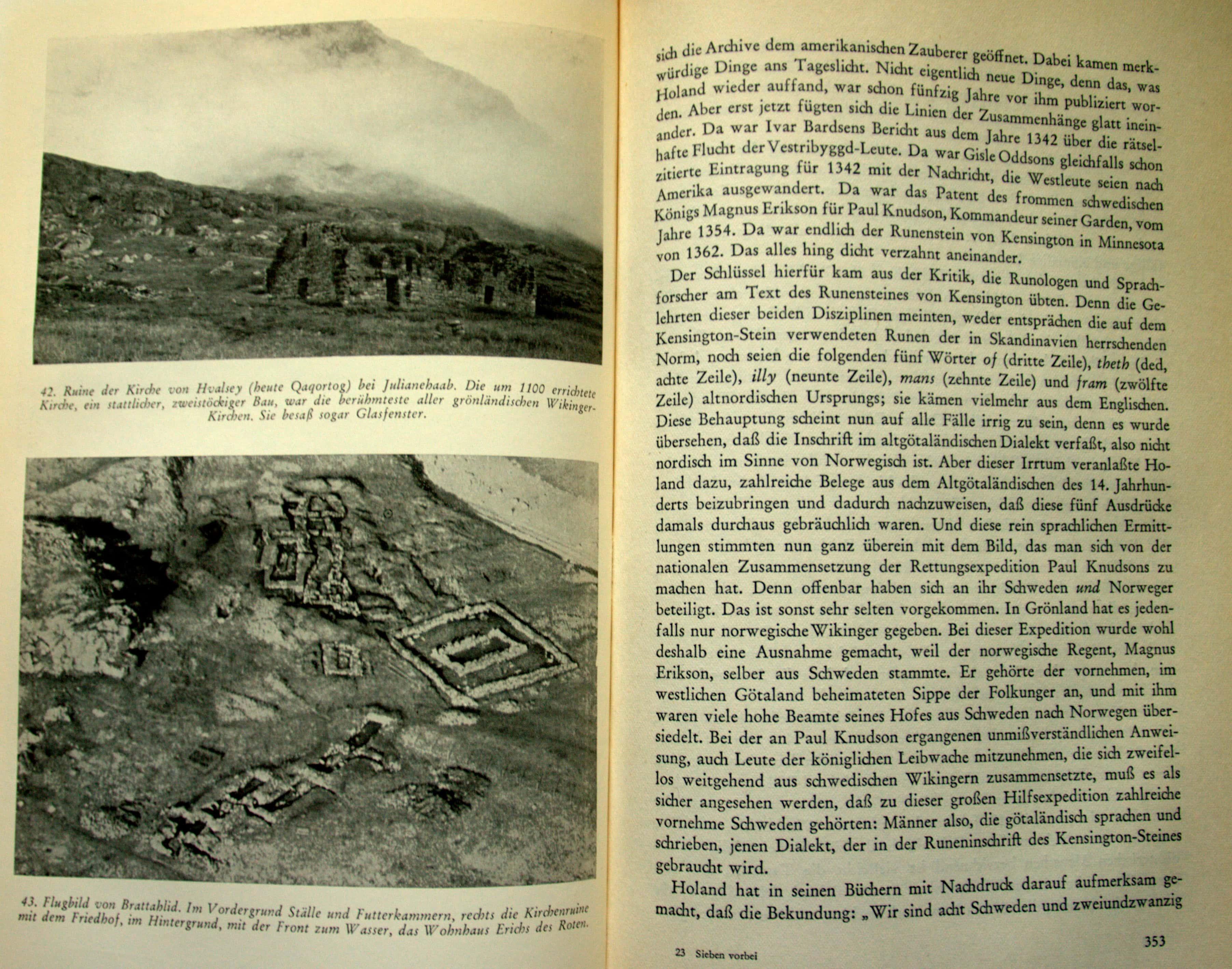 Überreste der grönländischen Wikingersiedlung