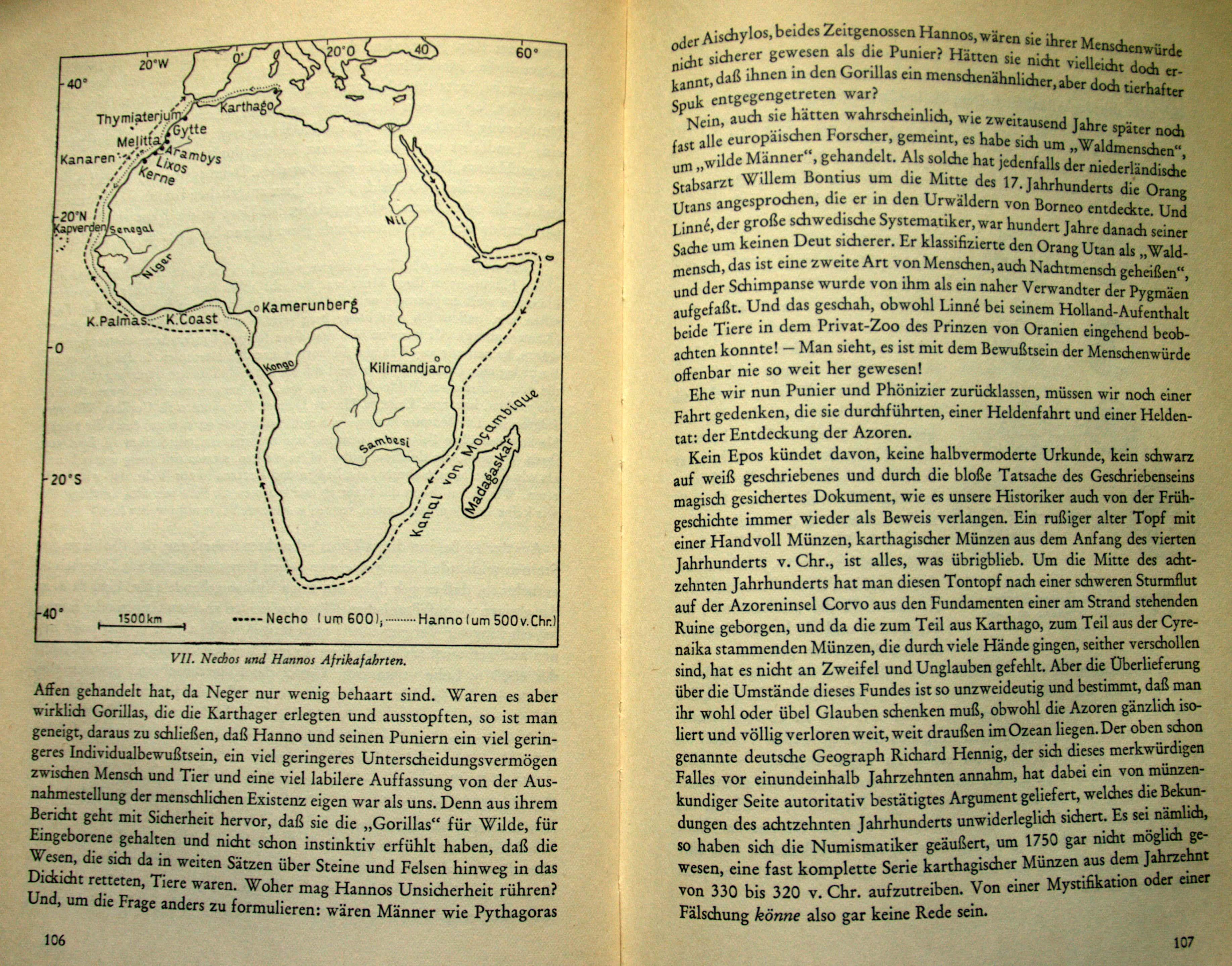 Karte mit Nechos und Hannos Afrikafahrten
