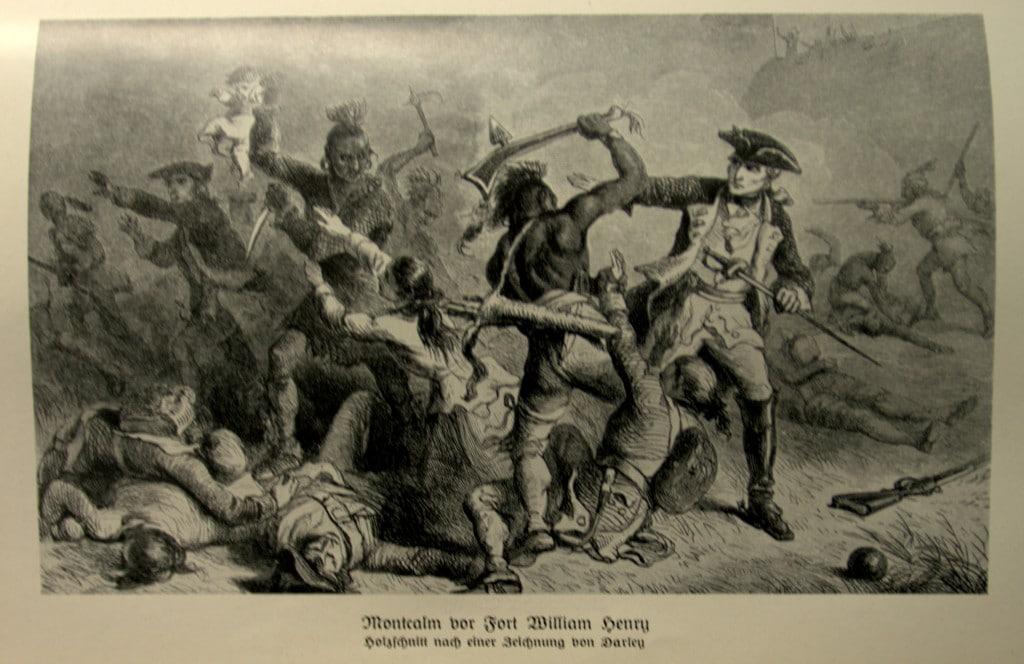 Bildtafel - Montcalm vor Fort William Henry - Das Grenzerbuch - Friedrich von Gagern