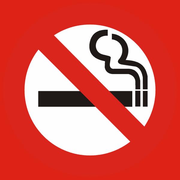 Rauchen verboten - der fröhliche Nichtraucher