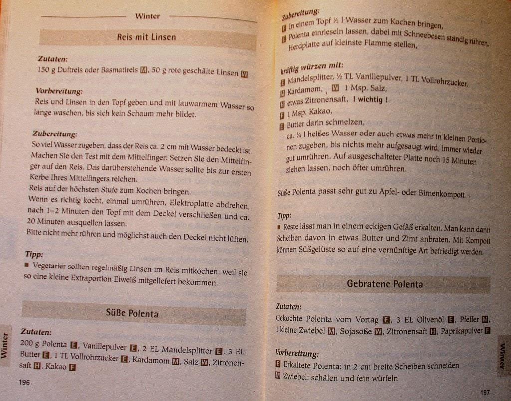 Die Fünf-Elemente-Küche - Christiane Seifert - Rezept für süße Polenta
