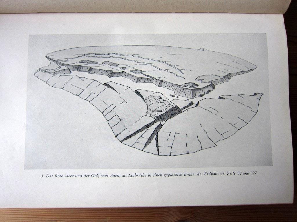 Gespräch mit der Erde - Hans Cloos - Ausgabe 1951 - Das rote Meer und der Golf von Aden - Schichtungen und Einbrüche
