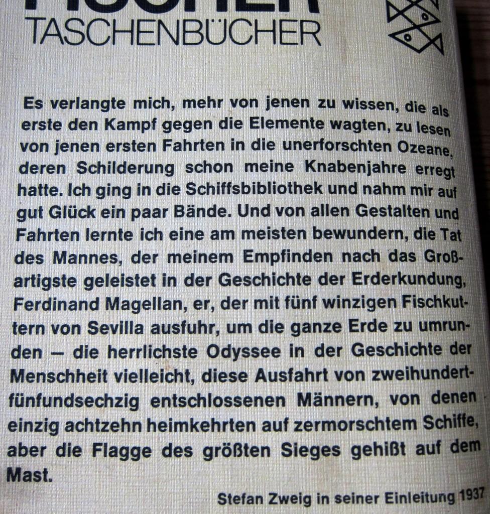 Stefan Zweig - Magellan - Aus dem Vorwort der Ausgabe von 1937