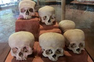 Tonina - Bei Ausgrabungen gefunden Schädel