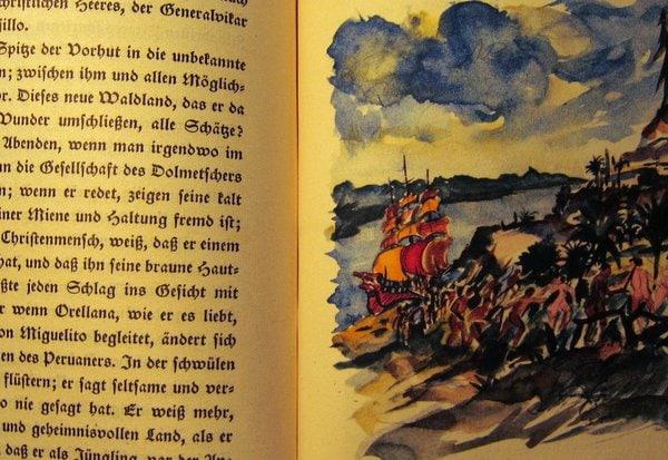 Das Urwaldschiff - Richard Bermann - gibt es kostenlos als eBook - eine der Grafiken