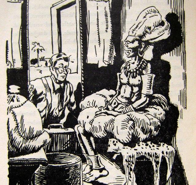Ein Medizinmann im Zugabteil - Wanderer ohne Ziel - Artur Heye - 1925