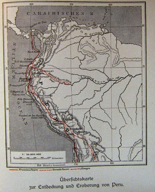 Karte - Francisco Pizarro und die Eroberung von Peru