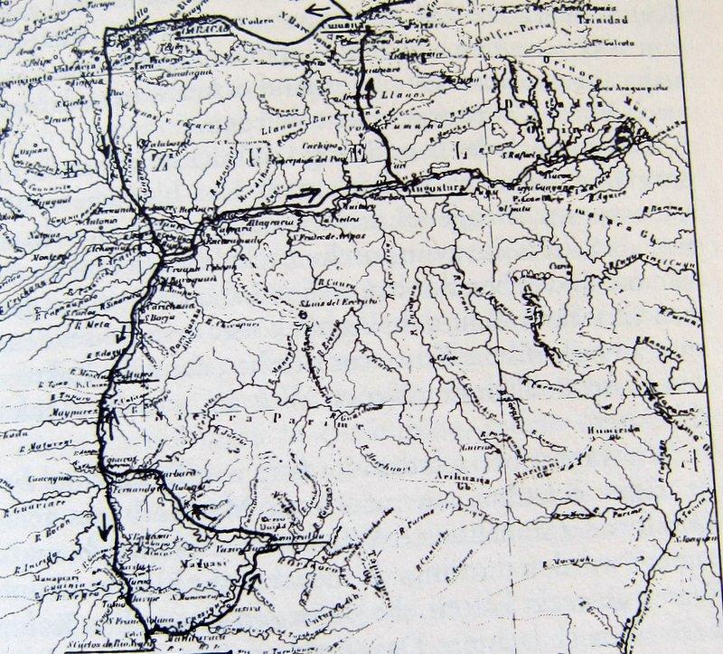 Reise nach Südamerika - Landkarte im Buch