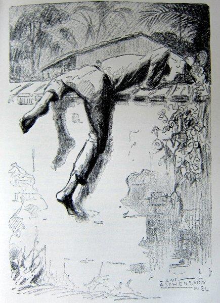 An Lagerfeuern deutscher Vagabunden - Zeichnung von Hans Anton Aschenborn