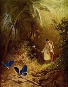 Carl Spitzweg - Der Schmetterlingsfänger - 1840