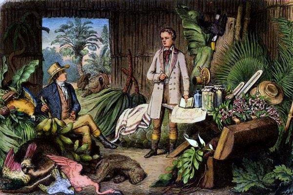 Humboldt und Bonpland am Orinoco