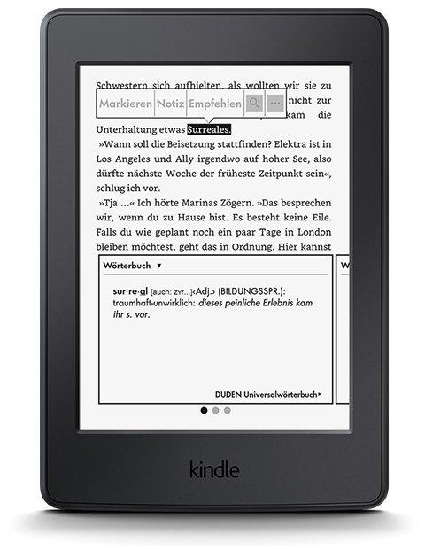 Paperwhite Funktion Wörterbuch