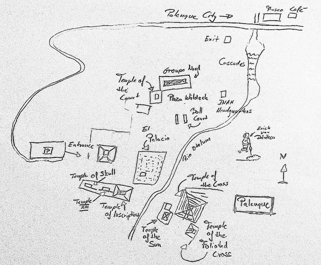 Karte Palenque
